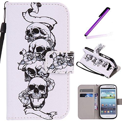 ff16e7bd3ef S3 Case,Galaxy i9300 Case LEECOCO Fancy Paint Floral Design Case [Credit  Cards Slot