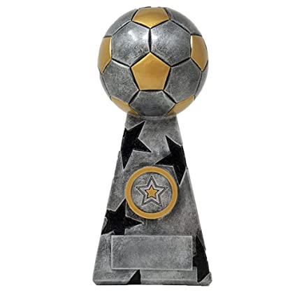 amazon com soccer star trophy silver 7 5 inch tall mvp award