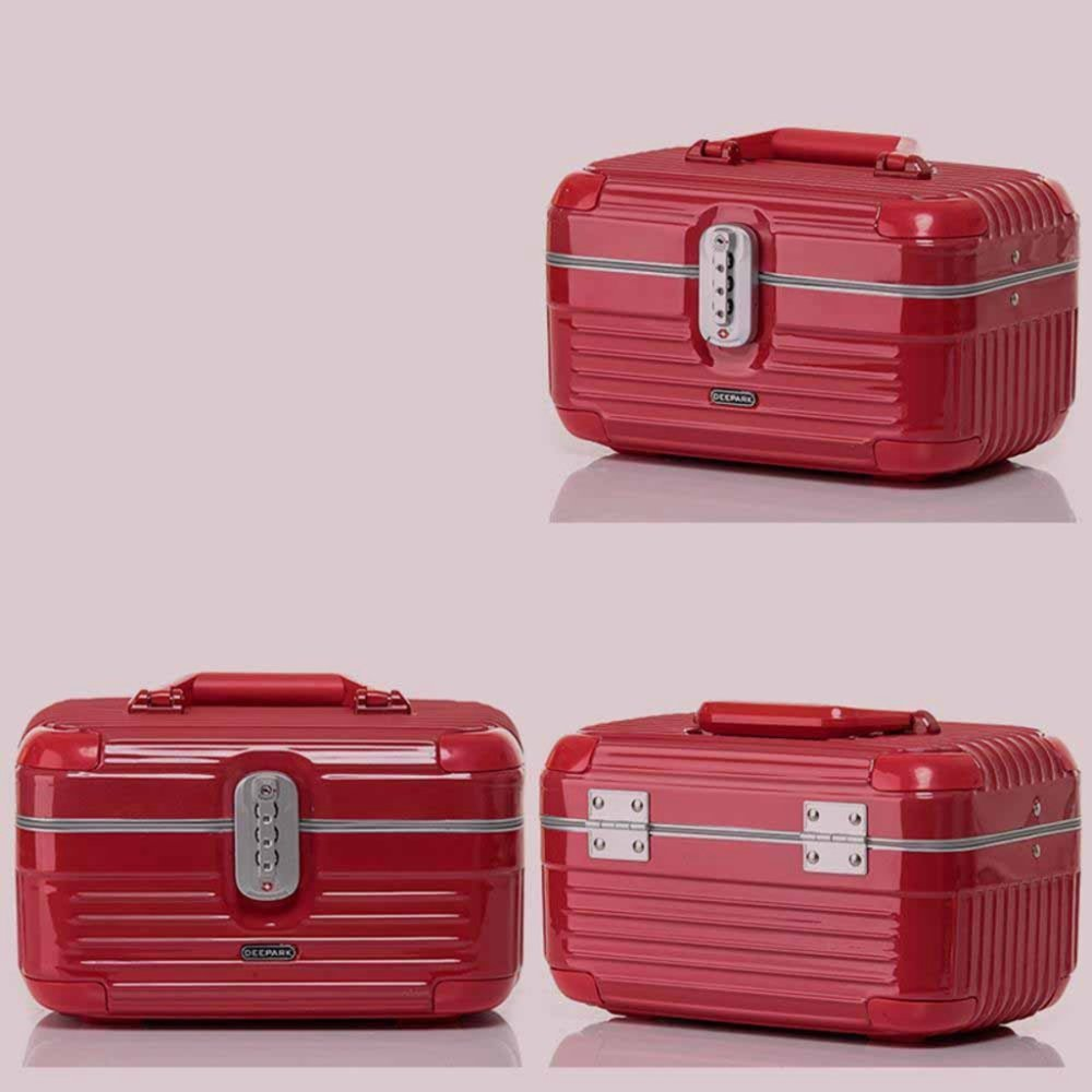 Kaxima Aluminum frame cosmetic Case Large capacity hand-held waterproof and pressure-carrying bag packing box travel cosmetic bag 32x20x18cm