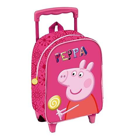 Peppa Pig - Mochila-carro con guardería y diseño 3D (Copywrite 314481)