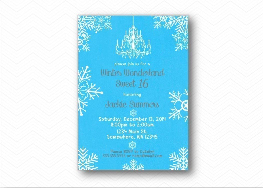 Amazon Com Winter Wonderland Snowflake Sweet 16 Printed Birthday