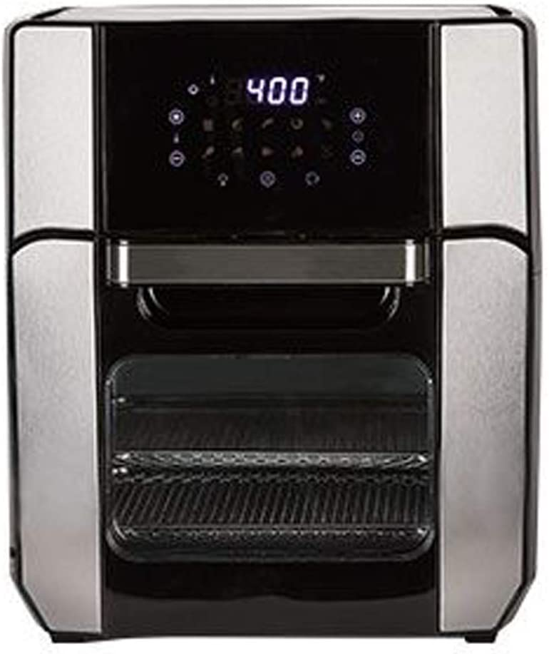 PowerXL Air Fryer Oven 12 QT with 8-in-1 Cooking Presets and LED Digital Touchscreen, Crisp, Bake, Roast, Broil, Reheat and More, 1700 Watts (Stainless Steel)