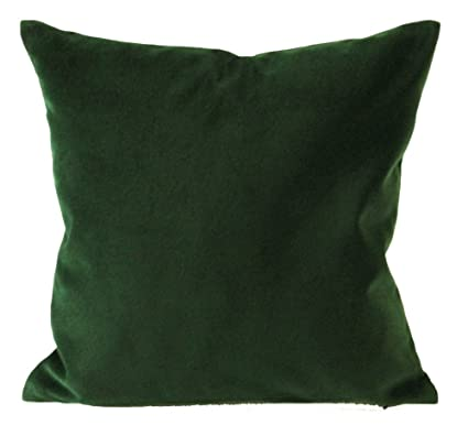 Well-liked Amazon.com: Hunter Green Cotton Velvet Decorative Throw Pillow  MC16