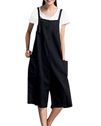 99f6af3a613 StyleDome Women s Retro Loose Casual Baggy Dungaress Sleeveless Strap Long  Jumpsuit Playsuit Trousers Pants Overalls  Amazon.co.uk  Clothing