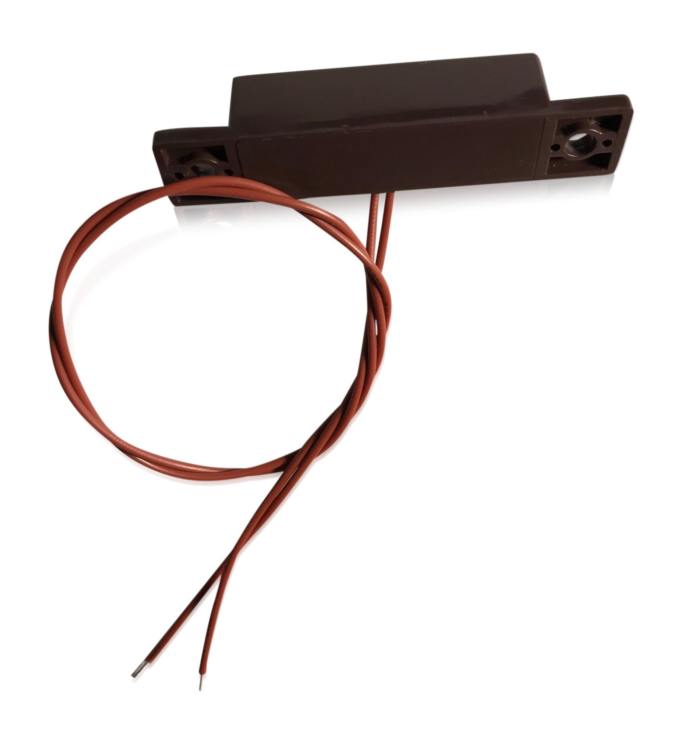 "3 pcs Brown Wired Door Contacts Surface Mount NC Security Alarm Door Window Sensors.These ¾"" Door Contact Position switches (DCS) Work with All Access Control and Burglar Alarm Systems by INTELLid (Image #3)"