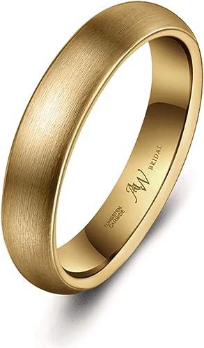 Amazon Com Aw Bridal Tungsten Rings Matte Brushed Wedding Band
