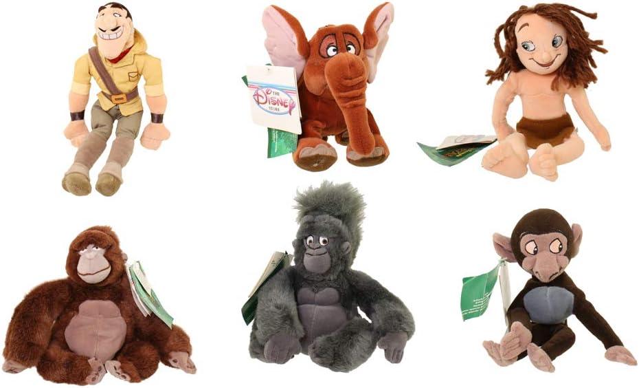 Disney Rare Tarzan Plush Bean Bag Complete Set with Kala, Terk ...