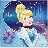 Amscan Lunch Napkins Cinderella Sparkle