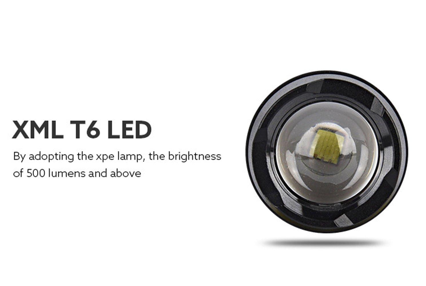 518740136b5 ... GXWFUI Recargable Recargable Recargable USB Linterna LED Ajustable Zoom  Aire Libre Linterna Multifuncional Perfecta para Ciclismo ...