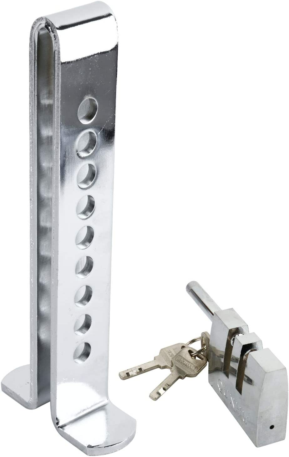YaeTek 9 Holes Brake Pedal Lock Security Car Auto Stainless Steel Clutch Lock Anti-theft Device