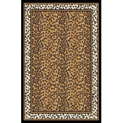 Zone Ebony Leopard Rug Rug Size: 3'7'' x 5'3''