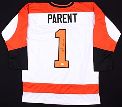 Image Unavailable. Image not available for. Color  Bernie Parent Signed  Jersey - Custom) - Coa! - JSA Certified ... 8e3f237bb