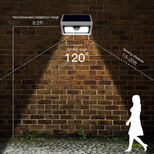 volador 2 packs 50 led solar lights outdoor wireless security lights motion activated solar. Black Bedroom Furniture Sets. Home Design Ideas