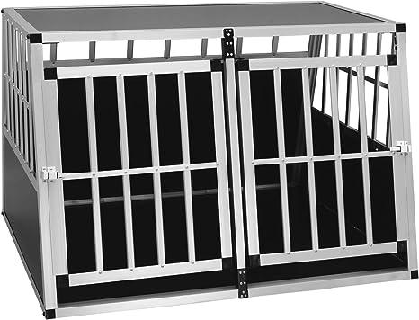 sélectionner pour l'original sortie de gros sélectionner pour dernier EUGAD Cage de Chien en Aluminium et MDF Caisse de Transport intérieur et  extérieur pour Animal Chien,Noir,104x91x69cm,0004LL
