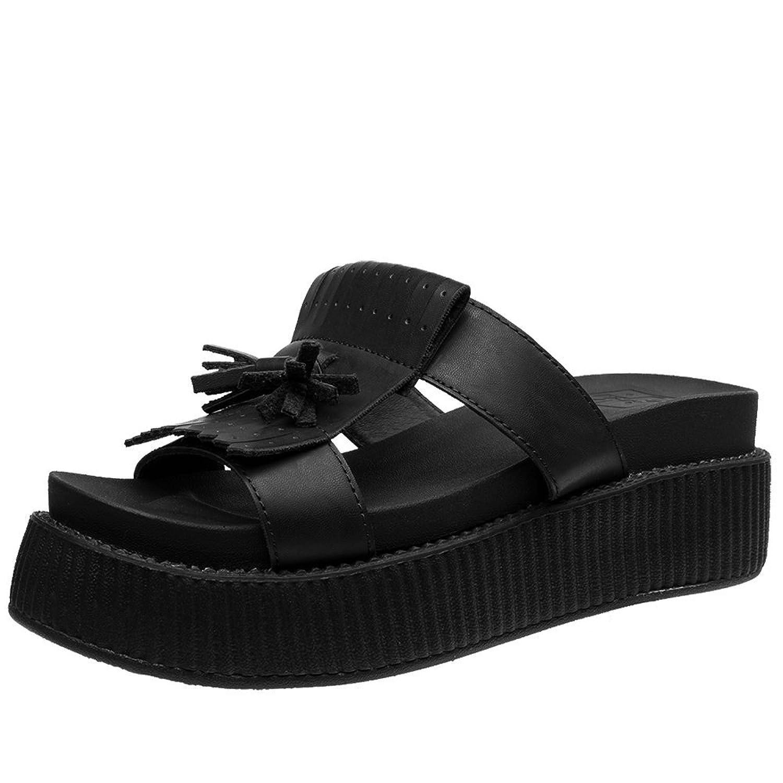 9fcbdb31b167e T.U.K. Shoes Women s Limited Edition Black Kiltie Slip On Sandal 60 ...