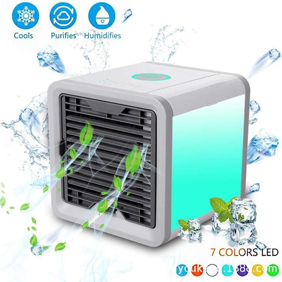 AFDLT Aire Acondicionado Portátil Air Cooler Humidificador ,Aire Acondicionado Portátil con Ventilador de Escritorio USB Mini Ventilador para el hogar