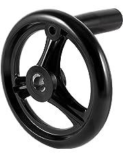 uxcell® Woodworker Table Belt Drive Saw Tilt Handwheel Black for 12mm Shaft