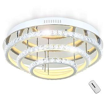 LED Deckenlampe Glas Kristall Deckenleuchte Licht ...