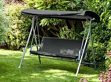 7e9207db39f Black Water Resistant Replacement Canopy for 3 Seater Argos Malibu Swing  Seat  Swing not Included