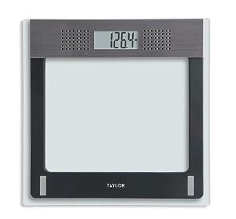 725b7c8f1615 Taylor Electronic Glass Talking Bathroom Scale, 440 Lb. Capacity