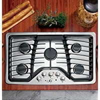 GE PGP976SETSS Profile 36 Stainless Steel Gas Sealed Burner Cooktop