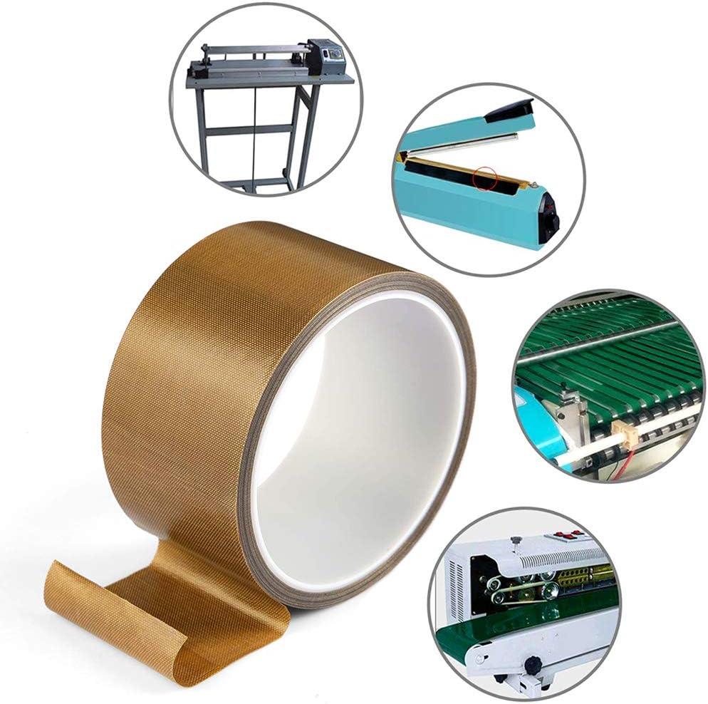 Hitzebest/ändig bis 260/°C 20mm x 10mm PTFE Glasgewebeband//Glasklebeband High Temp Klebeband Hochtemperaturband 10mm x 10m 2 St/ück Teflonband Teflon-Klebeband f/ür Vakuumiermaschine