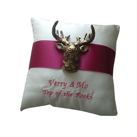 Anillo de cojín Shop Anillo almohada alce ciervo/cinta de ...
