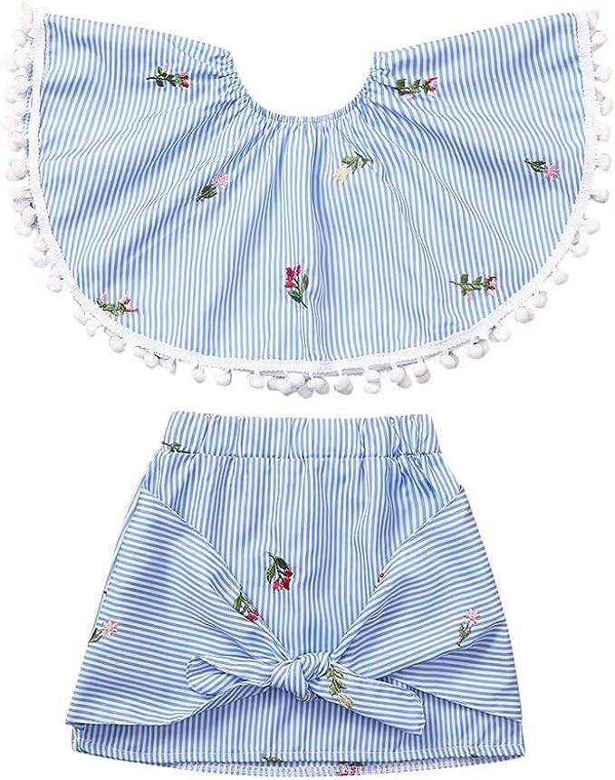 Livoral - Conjunto Infantil de Camiseta y Falda para niña, diseño ...
