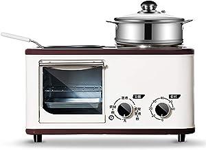 SqSYqz Multifunctional Toaster Mini Oven, 4 in 1 Breakfast Machine, Household Multi-Function Mini Breakfast Machine,Beige