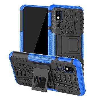 Funda para Samsung Galaxy A2 Core, Carcasa Antigolpes Robusta Case 360 Doble Capas Protector Resistente Golpes Caída Protección Fuerte con Soporte ...