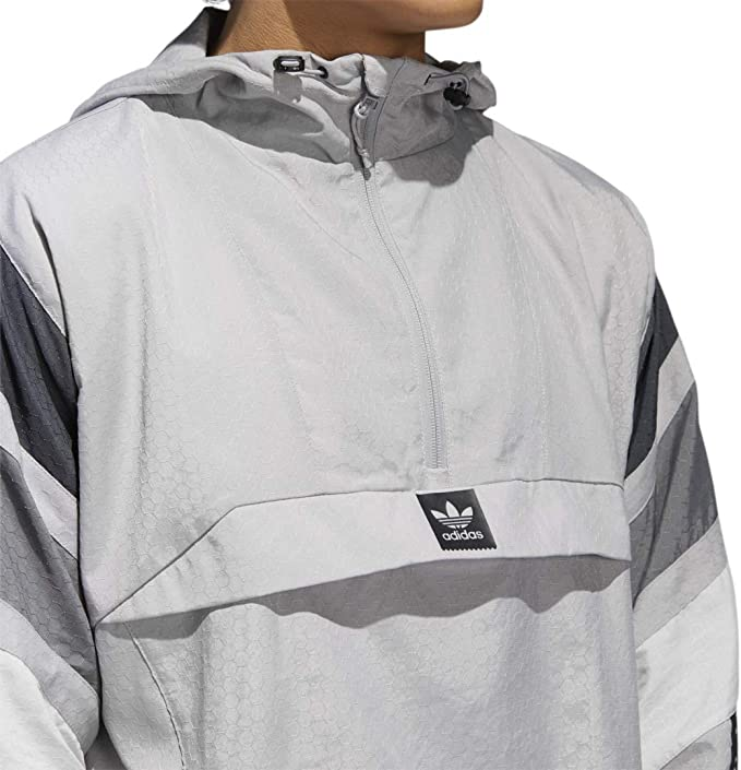 adidas 3ST Track Jacket Light GraniteDark Grey Heather