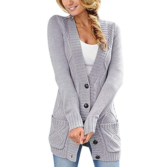 Modestil von 2019 heißer verkauf rabatt am besten kaufen Geilisungren Damen Lange Strickjacke Cardigan Grobstrick ...