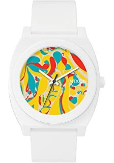 Nixon Time Teller A1193022 Matte White Rubber Japanese Quartz Fashion Watch