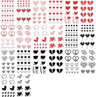 Everjoy Red And Black Hearts Temporary Tattoos 20 Pcs Waterproof Easy To Apply Body Art Tattoo Stickers For Adults Women Men Kids Boys And Girls Amazon Sg Beauty