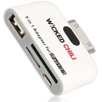 Wicked Chili - Adaptador 5 en q para iPad 3, 2, 1 (USB, 30 ...
