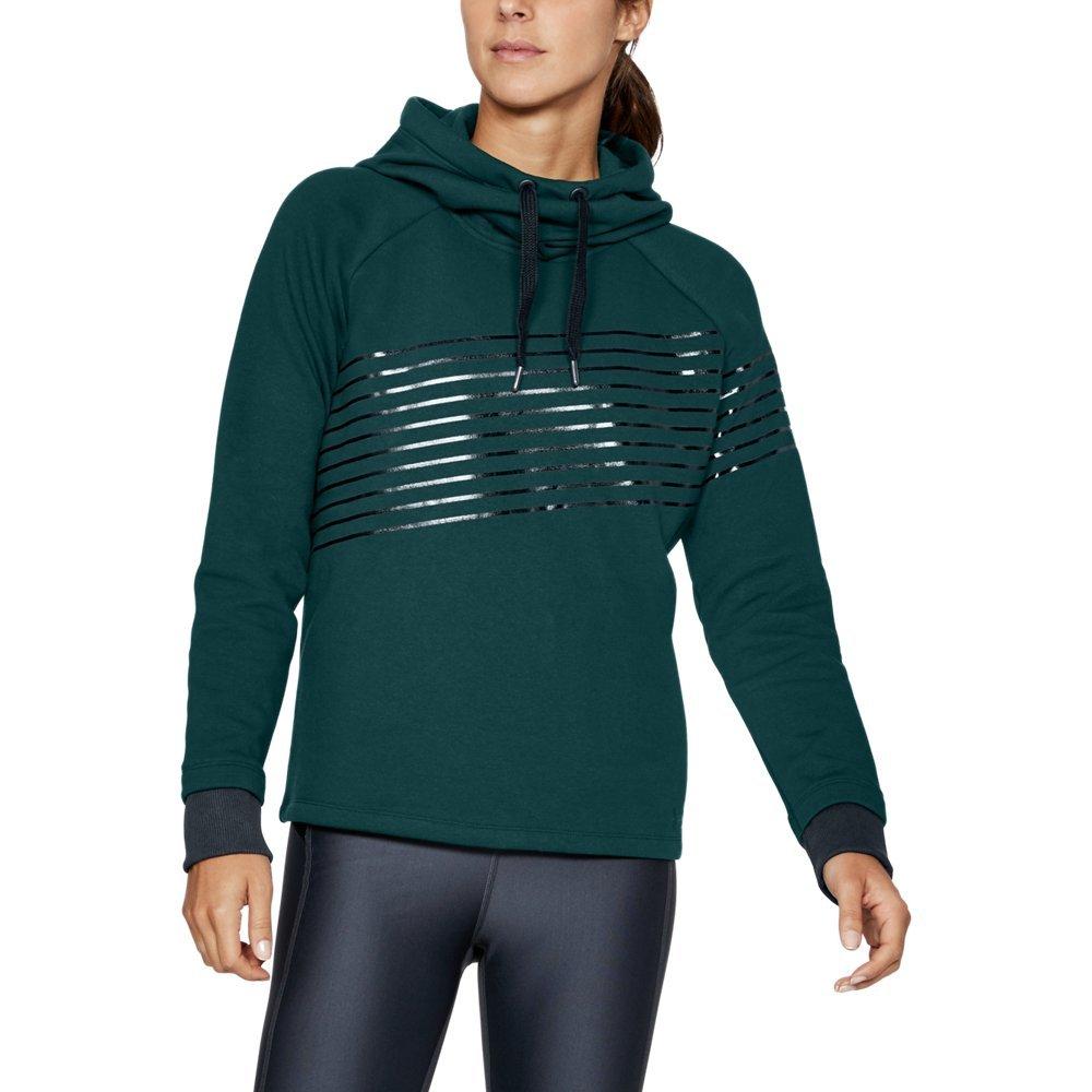 Under Armour Women's Threadborne Fleece Fashion Hoodie, Arden Green /Stealth Gray, Large