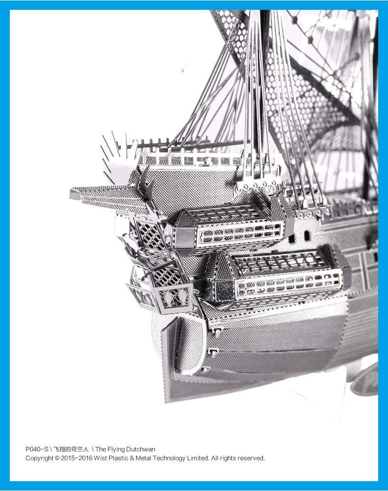 MQKZ Ensamble de Metal estéreo 3D Modelo Flying Dutchman Piratas ...