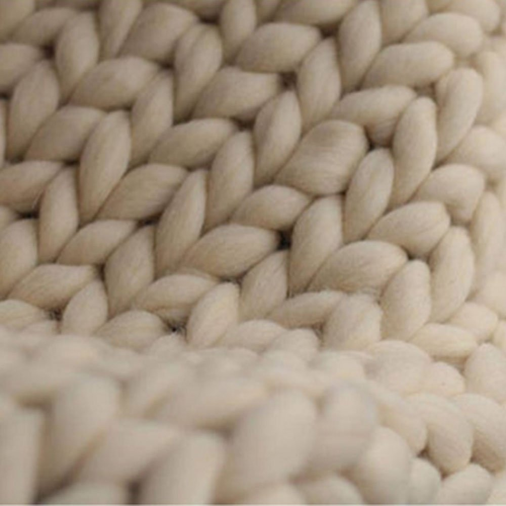 4db76b1961d9 Amazon.com  Beige Chunky Knit Blanket