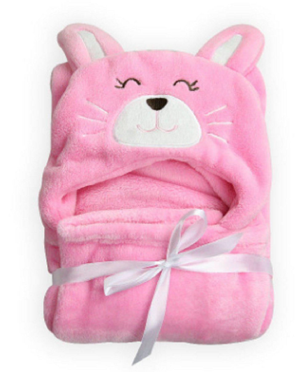 Baby Hooded Bath Towels Animal Bathrobe Fleece Towel Blanket Lion