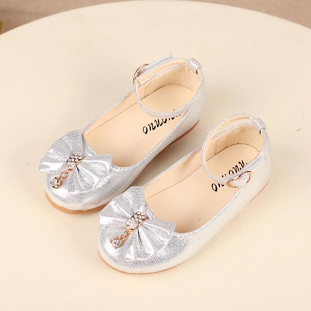 Rawdah Chaussures De Danse /à Fond Souple Enfants Fille Mode Princesse Soild Bow Knot Danse Toddler Qualit/é Chaussures Gris D/écontract/ées Chaussures Occasionnels Casual Shoes 21, Rose