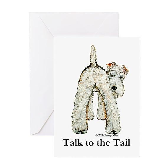 CafePress – Draht Fox Terrier Tail WFT – Grußkarte, Note Karte ...