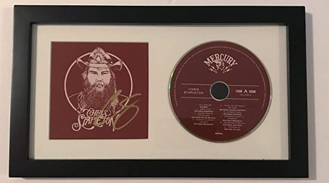 Chris Stapleton REAL Hand SIGNED Framed U0026 Matted From A Room Vol 2 CD COA  PROOF