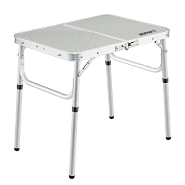 REDCAMP Small Folding Table Adjustable Height 23.6 x15.7 x10.2 /19 , Aluminum Camping Table Lightweight