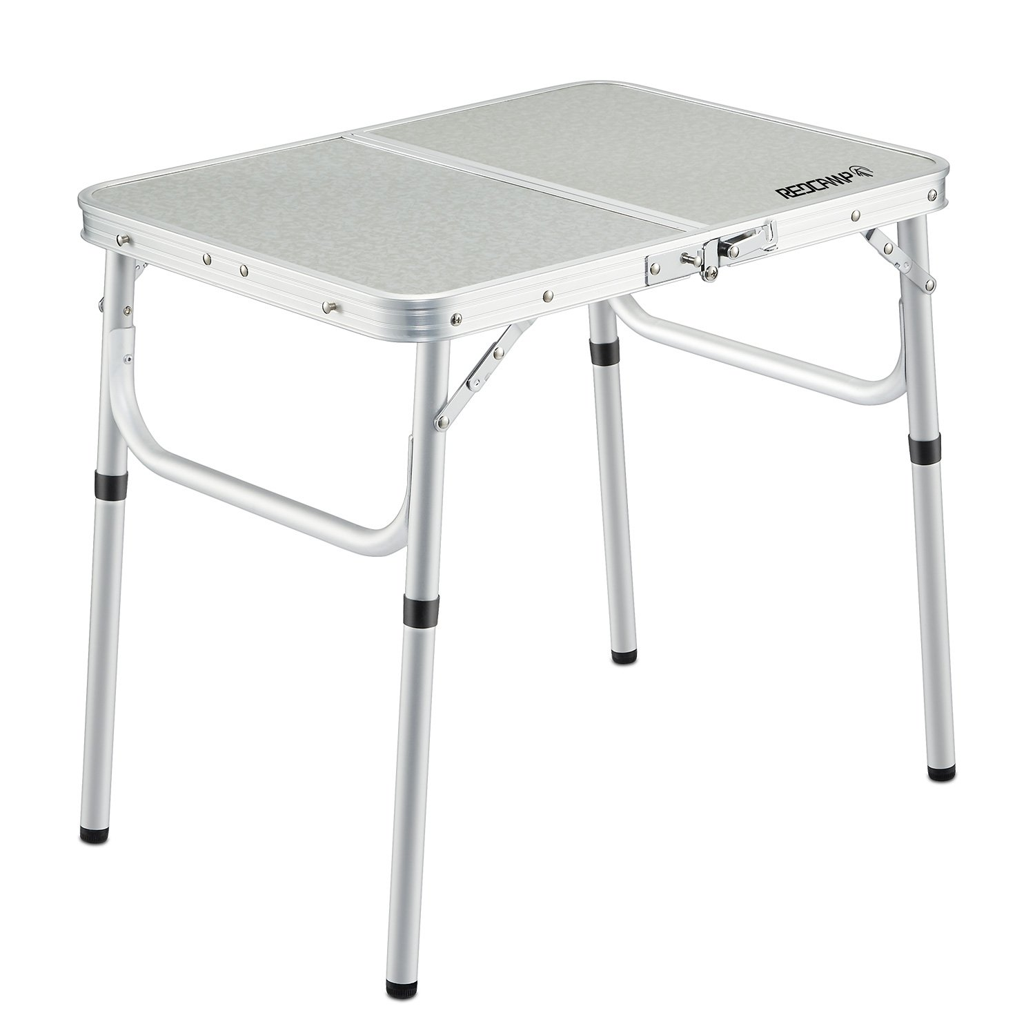 REDCAMP Small Folding Table Adjustable Height 23.6''x15.7''x10.2''/19'', Aluminum Camping Table Lightweight by REDCAMP