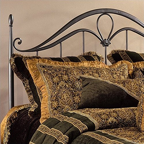 Metal Hillsdale Bronze Kendall - Hillsdale Furniture 1290HFQR Kendall Headboard with Rails, Full/Queen, Bronze