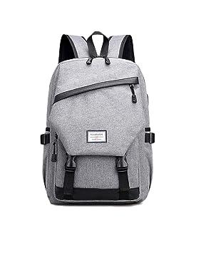 0a9a956863948 XQKA Männer Alltag Rucksack Nylon Teenager Schultasche Tech Rucksack Frauen  Daypack Rucksack Laptoptasche Mit USB-