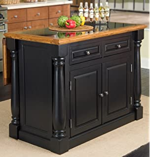 Home Styles 5009 94 Monarch Granite Top Kitchen Island Black And Distressed Oak Finish