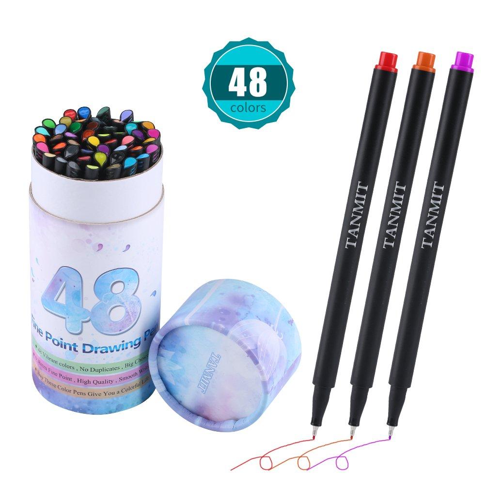 Bullet Journal Colored Fineliner Pens, Fine Tip Marker Fine Line Drawing Sketch Writing Pens Set of 48 for Journaling Planner Note Taking Calendar Coloring Art Projects TT 4336949588