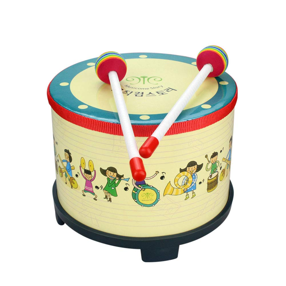 Hanbaili Korean Drum Durable Hand Drum with Wooden 2 Pcs Drumstick Music Artistic Performance
