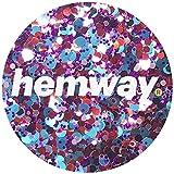 Hemway Harlequin Blue Red Purple Mix Glitter Chunky Multi Purpose Dust Powder Arts & Crafts Wine Glass Decoration Weddings Flowers Cosmetic Face Eye Body Nails Skin Hair Festival 10g